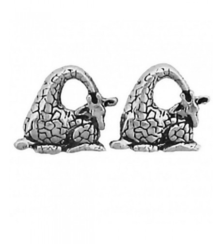 Corinna Maria Sterling Giraffe Earrings Stainless