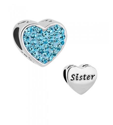LovelyCharms Sister Heart Charm Bracelets