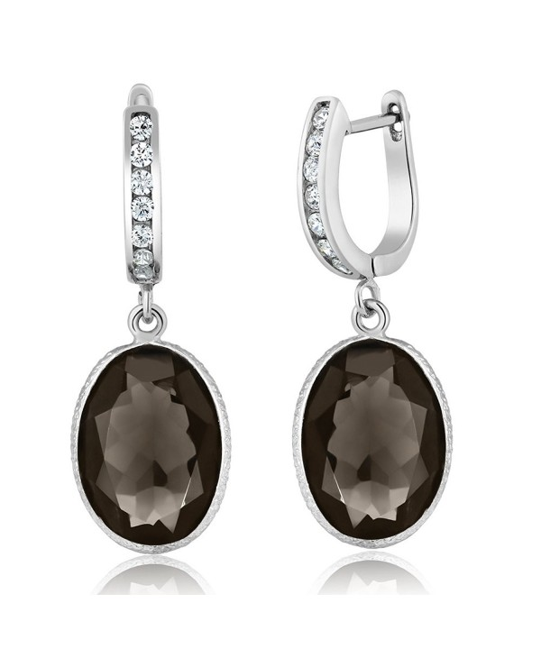 Smokey Quartz Gemstone Sterling Earrings
