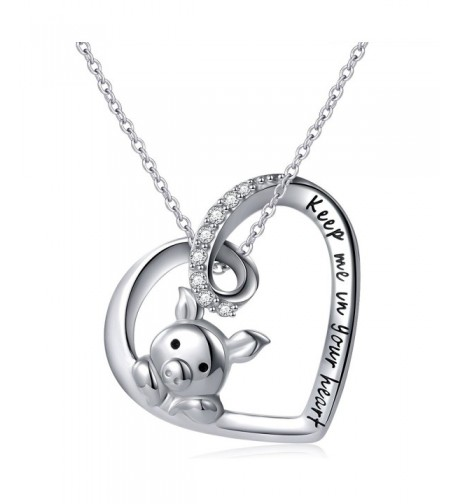 Sterling Silver Engraved Pendant Necklace