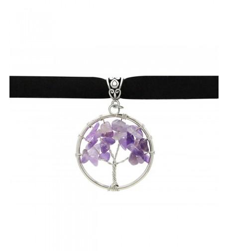Sotcc Pendant Crystal Necklace Amethyst