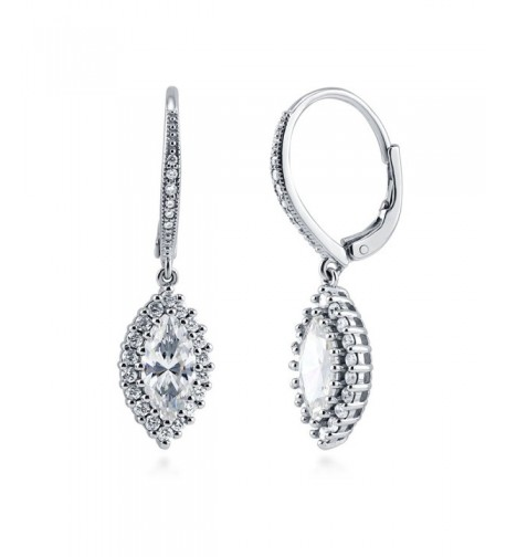 BERRICLE Sterling Zirconia Leverback Earrings