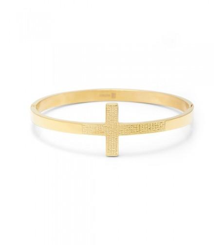 Lords Prayer Gold Bangle Bracelet