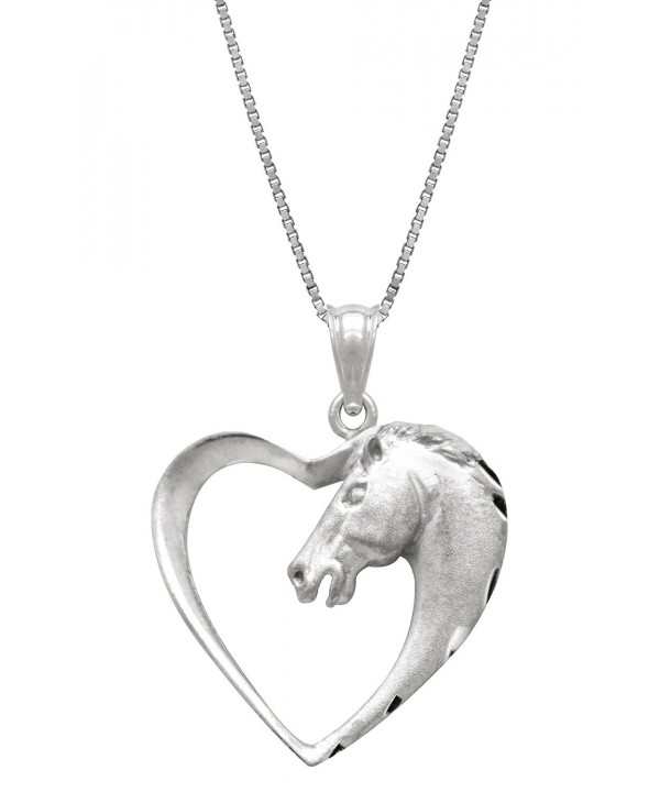 Sterling Silver Horse Necklace Pendant
