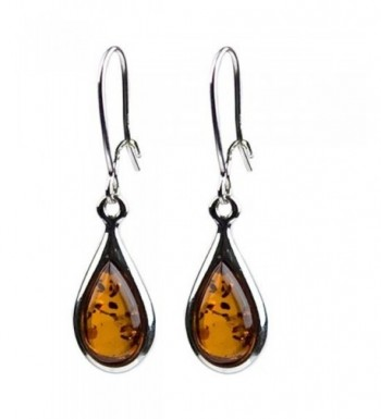 Certificated Genuine Sterling Teardrop Earrings