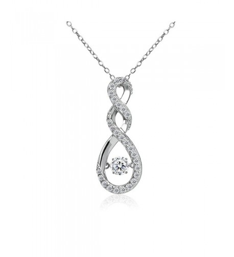 Sterling Infinity Necklace Swarovski Zirconia