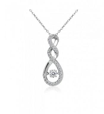 Sterling Infinity Necklace Swarovski Zirconia