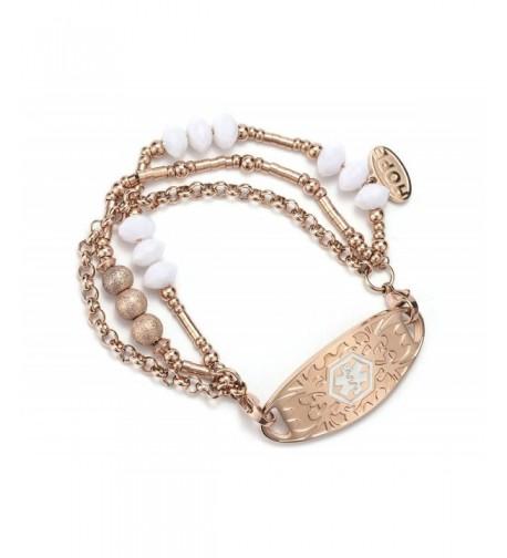Engraving Beads Bangle Medical Bracelet