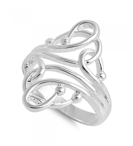 Fashion Abstract Sterling Silver RNG14974 11