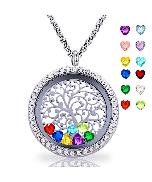 Floating Pendant Necklace Birthstone Include