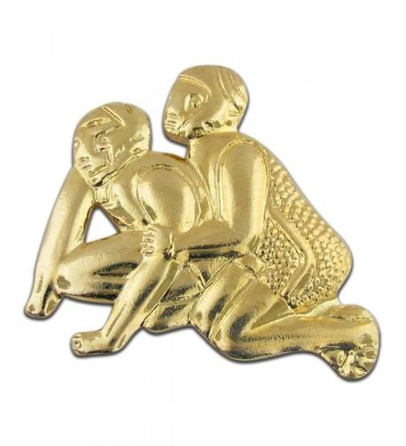 Wrestling Gold Chenille Sports Lapel