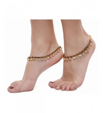 Royal Bling Kundan Reversable Anklets