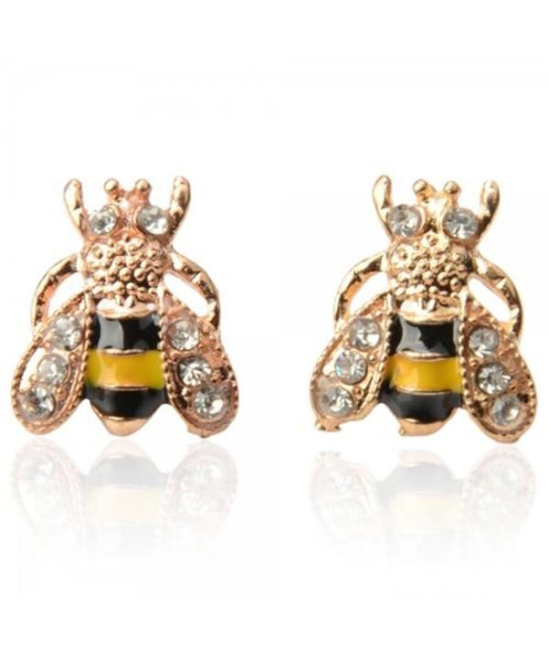CRB Crystal Bumblebee Bumble Earrings