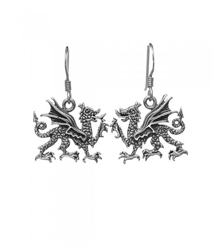 Oxidized Sterling Silver Medieval Earrings
