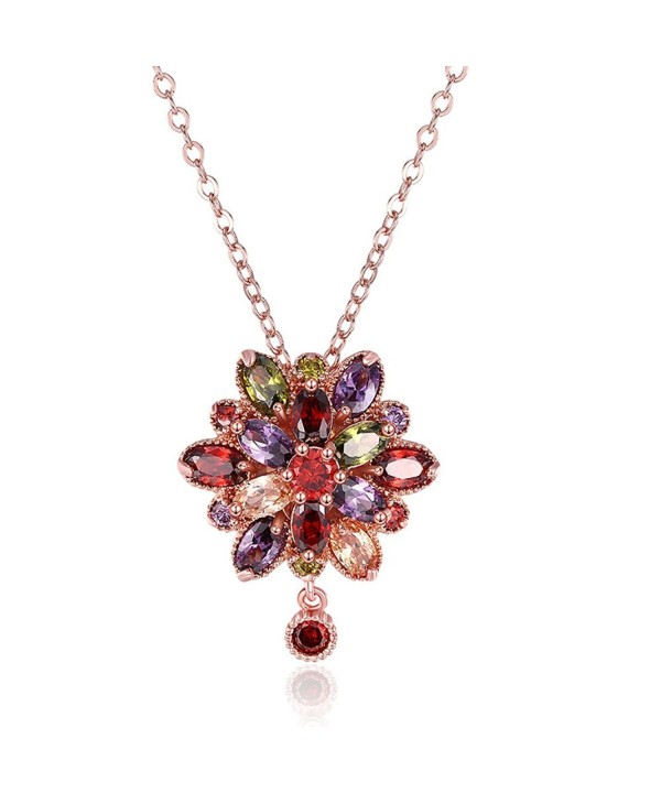Colored Zirconia Crystal Necklace colorful