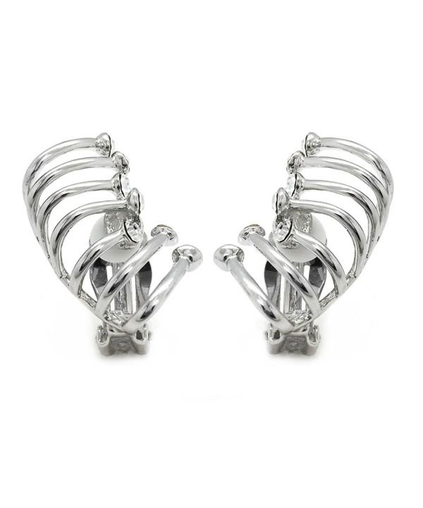 Climber Earrings Crystal Crawler Rhodium