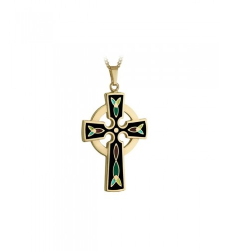 Celtic Cross Necklace Plated Black