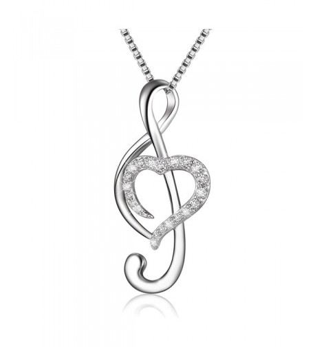 Sterling Silver Music Necklace Pendant