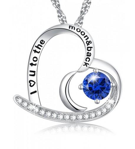 Sapphire Swarovski Necklace Sterling Anniversary
