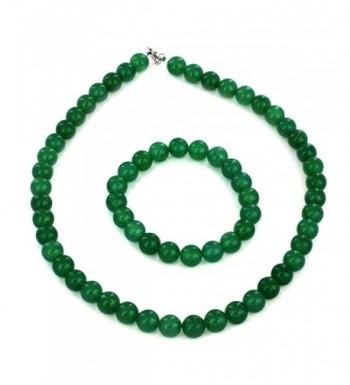 Womens Sterling Aventurine Bracelet Necklace