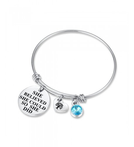March Birthstone Charm Bracelet friendship
