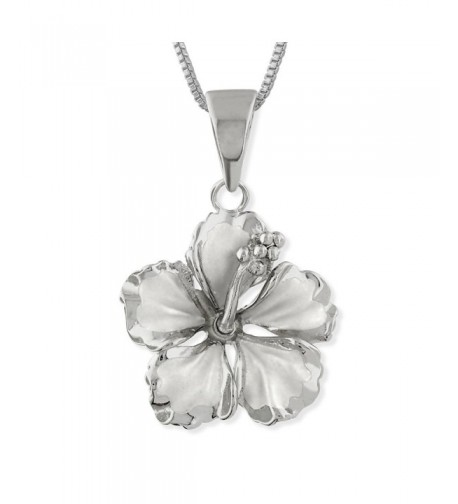 Sterling Silver Hibiscus Necklace Extender
