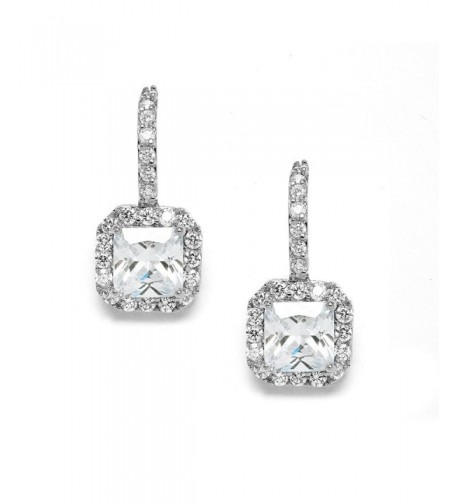 Mariell Radiant Cut Zirconia Bridal Earrings