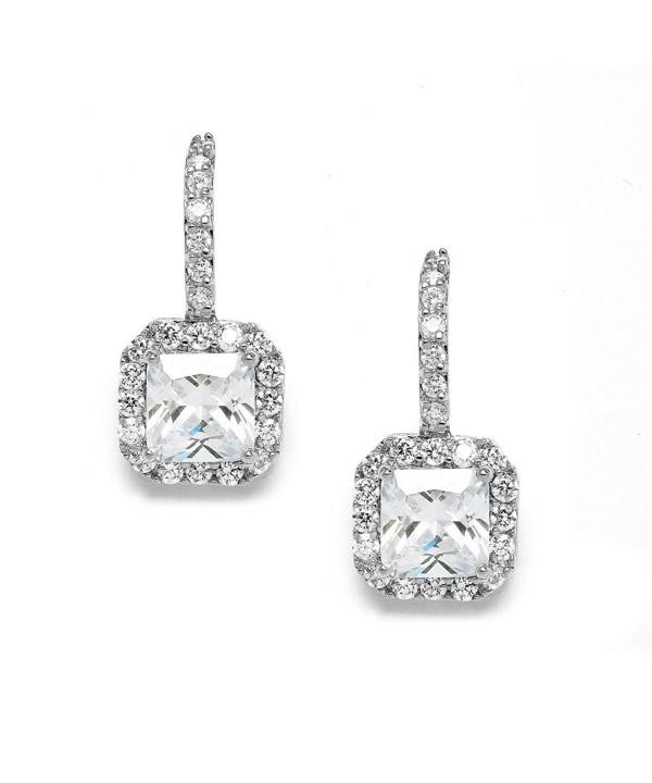 Mariell Radiant Cut Zirconia Bridal Earrings