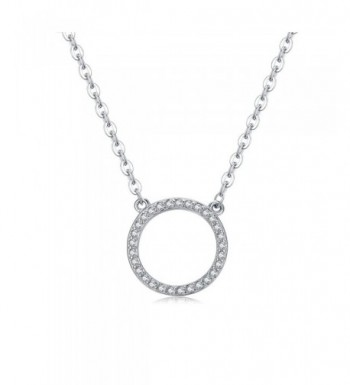 Florensi Sterling Silver Circle Necklace