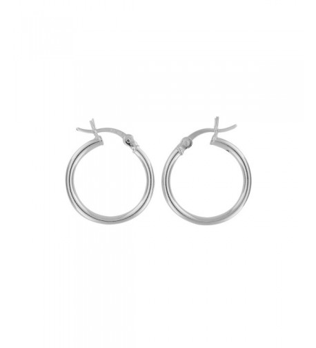 Sterling Silver Hoop Earrings 18mm