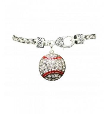 Baseball Crystals Stitching Bracelet Sports