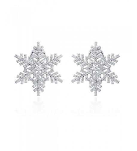 ZS Jewelry Snowflake Earring Zirconia