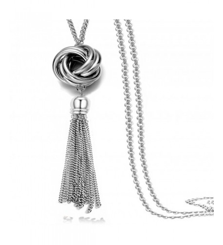Multi Tassel Statement Necklace Pendant