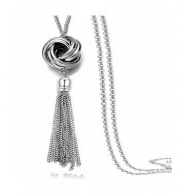 Multi Tassel Statement Necklace Pendant