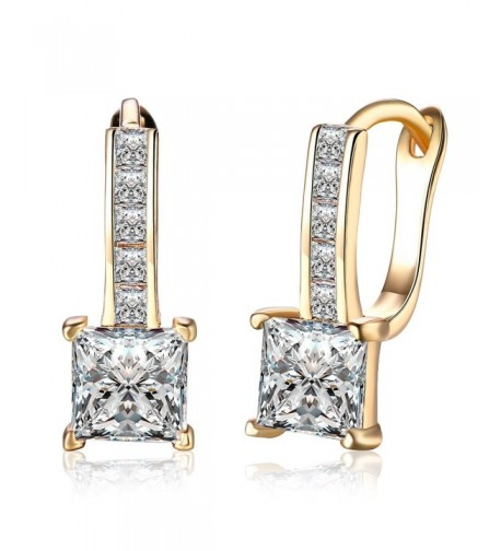 Zirconia Diamond Earrings Champagne DreamSter