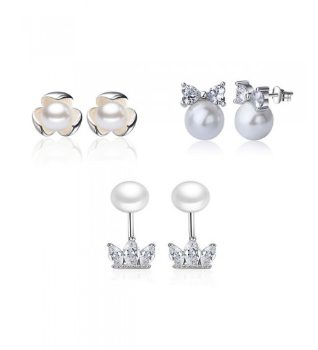 Silver Imitation Pearls Earrings Jewelry