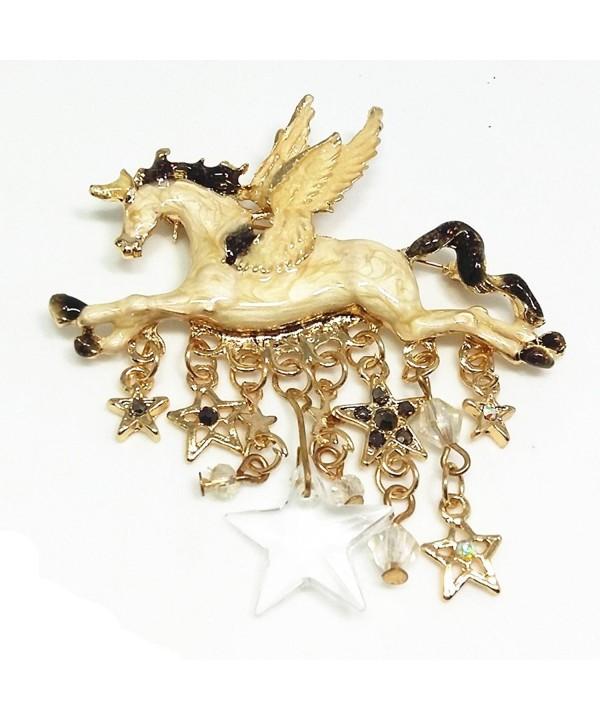 QTMY Unicorn Pegasus Crystal Tassel
