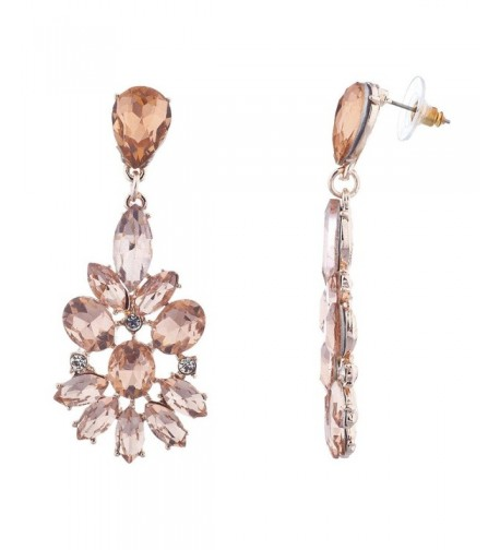 Lux Accessories Occasion Statement Earrings