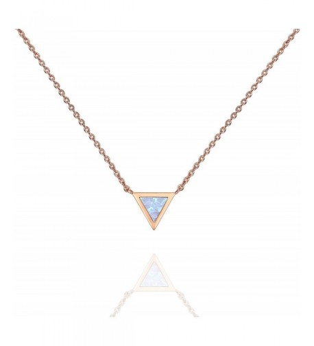 PAVOI Plated Triangle Bezel Necklace