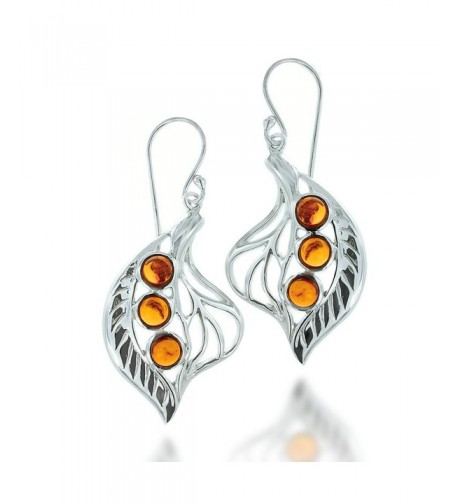 Rhodium Plated Sterling Gemstone Earrings