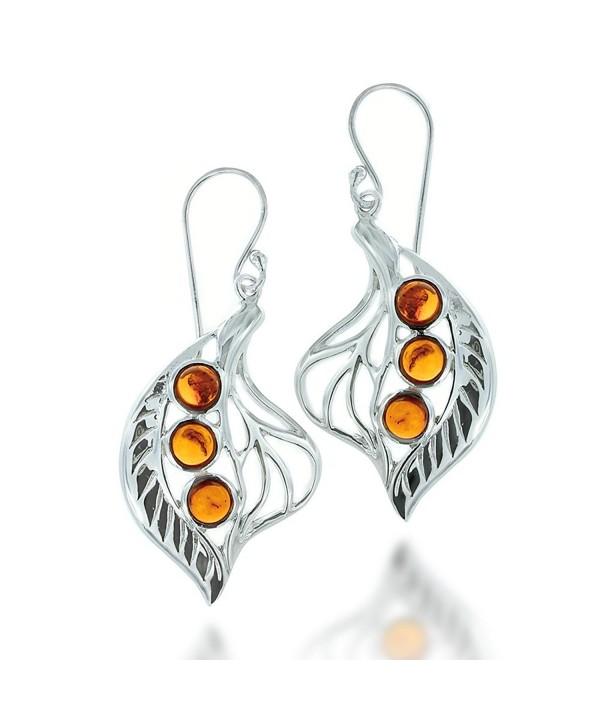 Rhodium Plated Sterling Gemstone Earrings