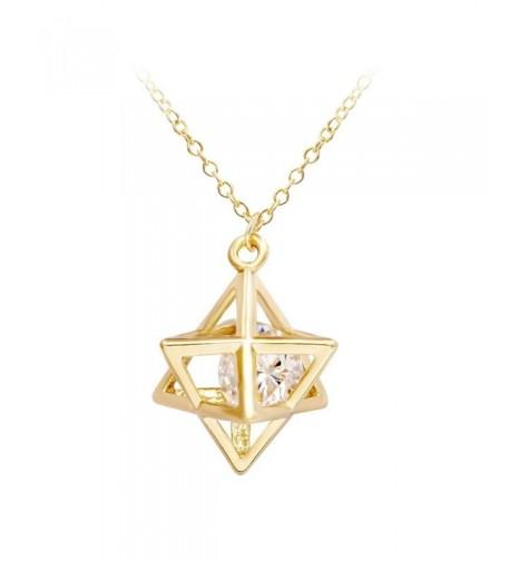 SENFAI Pointed Pendant Necklace Geometry
