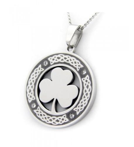 Clover Pendant Necklace Zirconium Jewelry