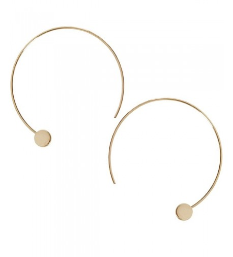 Humble Chic Disc Hoops Gold Tone