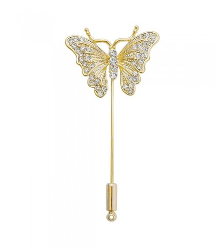 DMI Jewelry Crystal Butterfly Gold Color