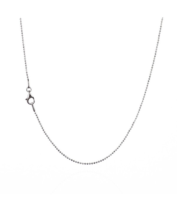 Sterling Diamond Cut Chain Necklace Clasp RHODIUM