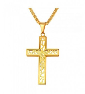 U7 Catholic Pendant Crucifix Necklace