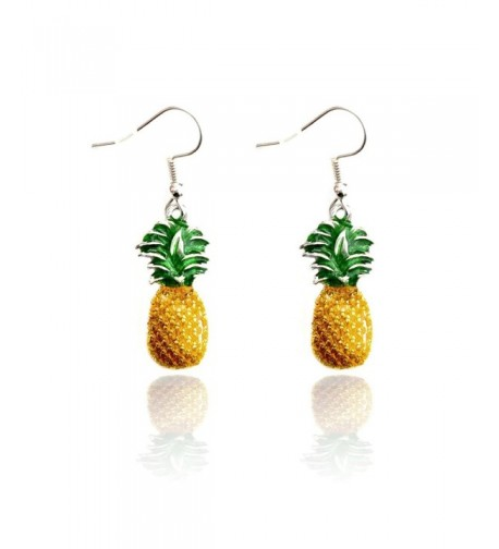 Joji Boutique Enameled Pineapple Earrings