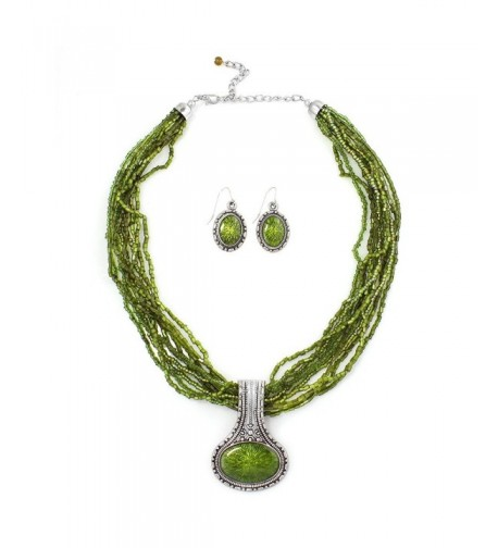 TAZZA PENDANT NECKLACE EARRING WS23996S50