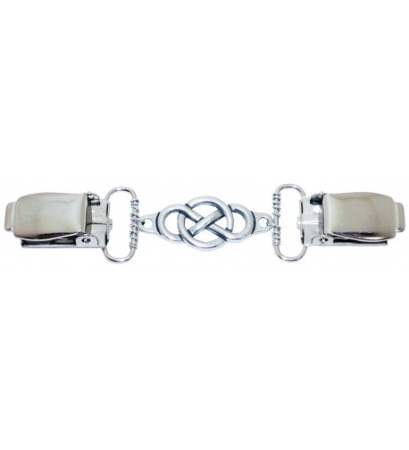 Silver Circle Infinity Cardigan Clip